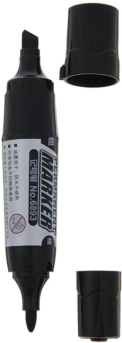 Deli Маркер перманентный двусторонний цвет черный calligrata маркер перманентный цвет черный