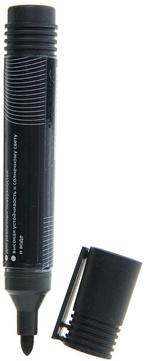 Calligrata Маркер перманентный цвет черный1280361Перманентный маркер Calligrata подходит для письма на любых поверхностях. Чернила на спиртовой основе. Плотный колпачок с клипом надежно предотвращает высыхание. Закругленный пишущий узел. Диаметр пишущего узла - 4 мм.