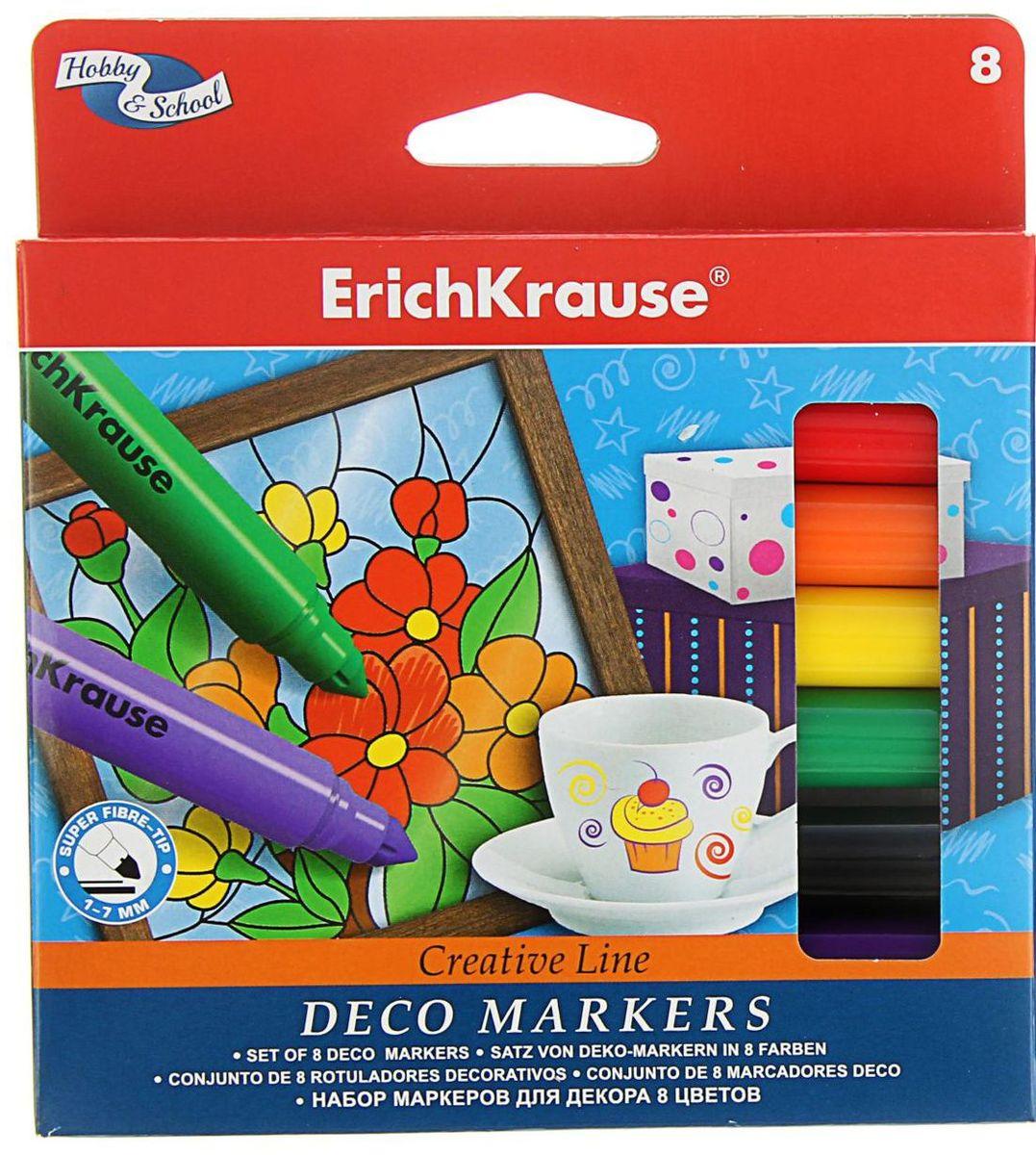 Erich Krause Набор маркеров Creative Line 8 цветов рюкзаки erich krause купить