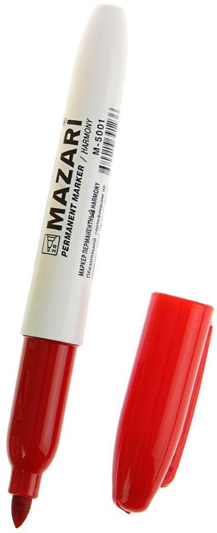 Mazari Маркер перманентный Harmony цвет красный calligrata маркер перманентный цвет черный