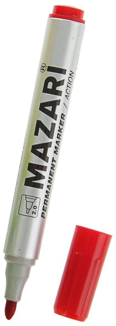 Mazari Маркер перманентный Action цвет красный2362991