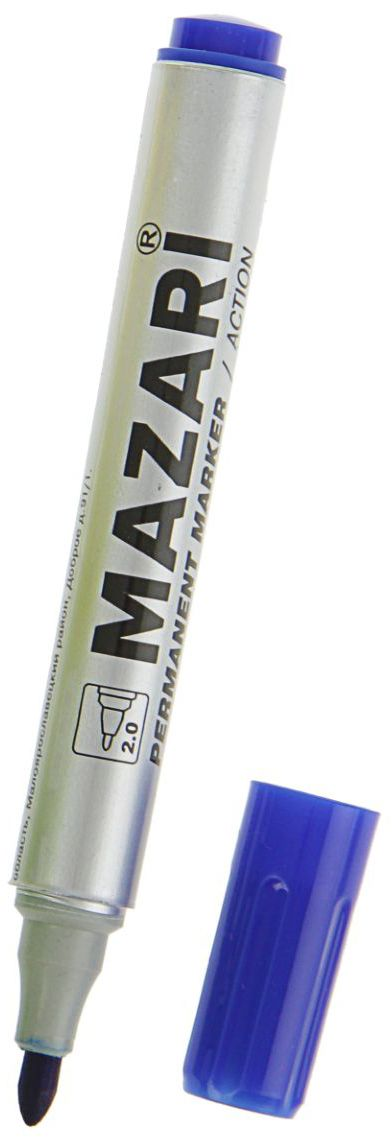 Mazari Маркер перманентный Action цвет синийP-505