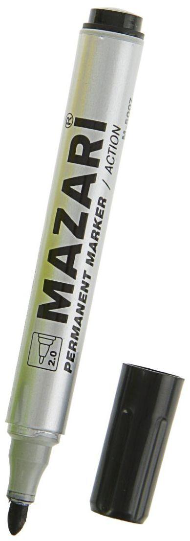 Mazari Маркер перманентный Action цвет черный calligrata маркер перманентный цвет черный