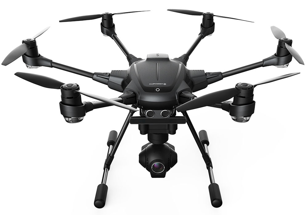 Yuneec Typhoon H Pro-RS RTF RealSense, Black Grey гексакоптер yuneec typhoon h 5 8g fpv drone with realsense module cgo3 4k camera 3 axis gimbal 7 inch touchscreen rc hexacopter rtf