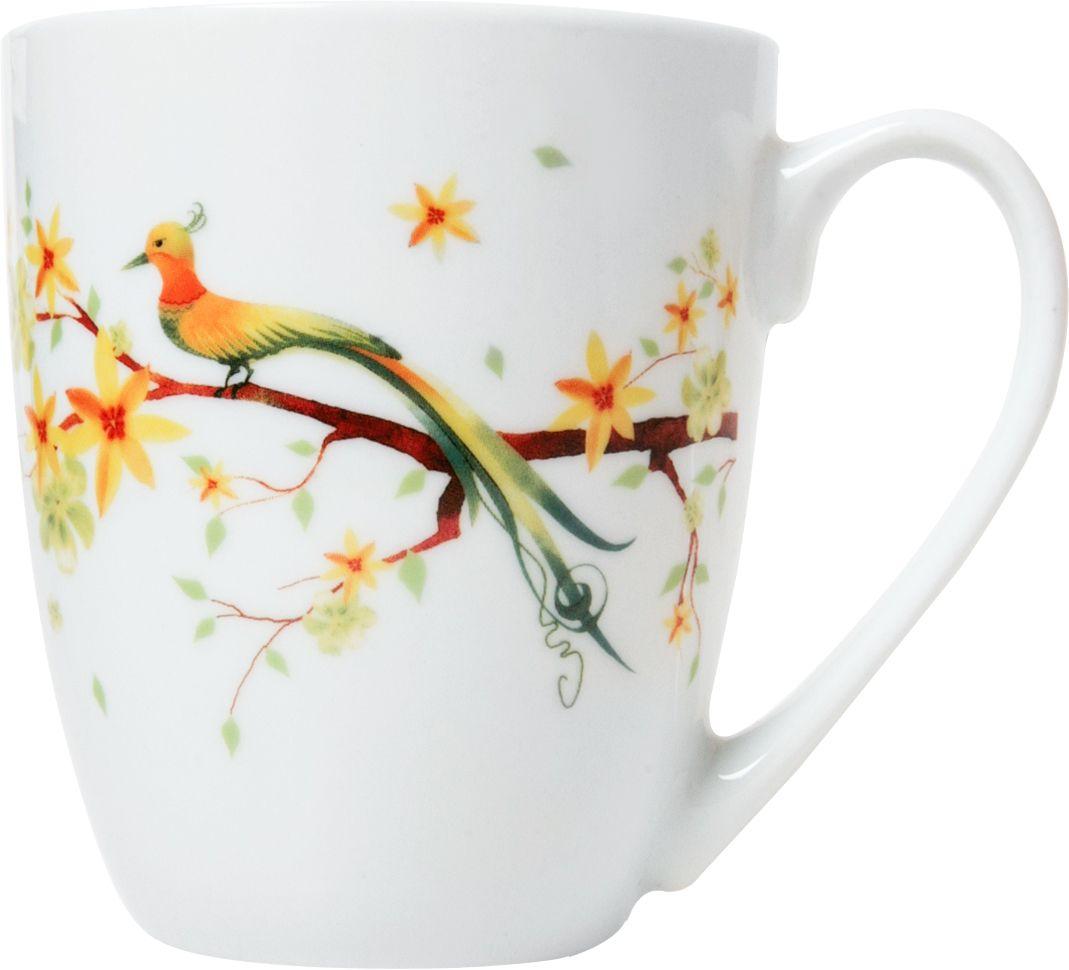 """Стильная кружка для чаепития """"Domenik"""" выполнена из утонченного фарфора и украшена элегантным рисунком. Ее можно мыть в посудомоечной машине. Объем: 360 мл."""