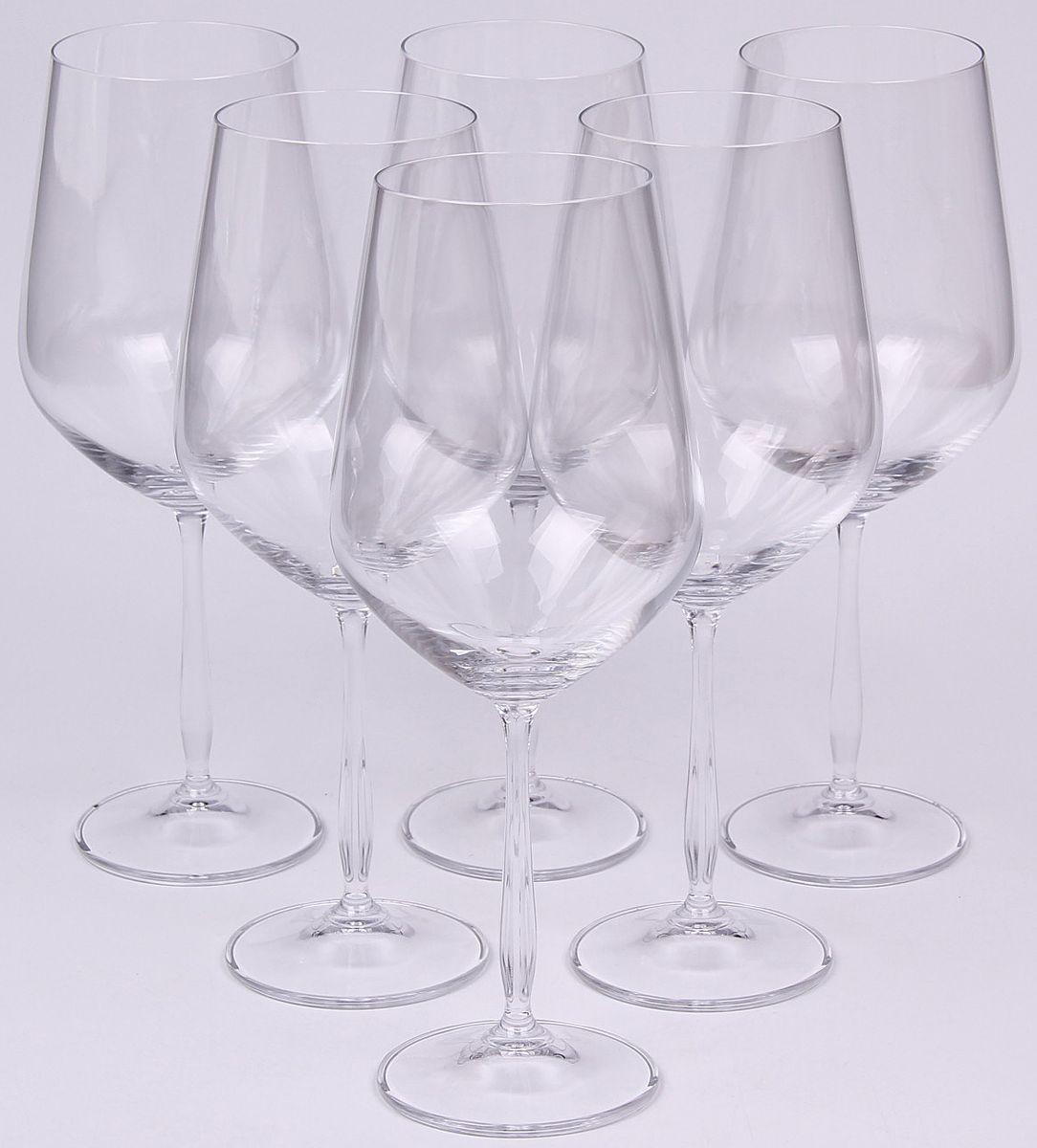 Набор бокалов для вина Banquet Crystal, 800 мл, 6 шт. 02B2G00380002B2G003800Набор Banquet Crystal состоит из шести бокалов для вина, выполненных из стекла. Изделия оснащены ножками. Бокалы сочетают в себе элегантный дизайн и функциональность. Благодаря такому набору пить напитки будет еще вкуснее.