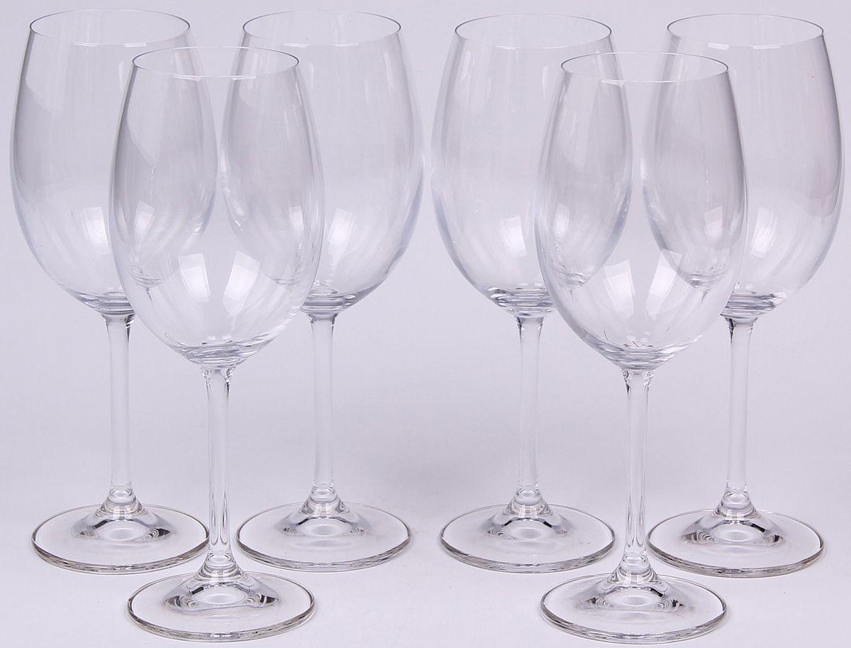 Набор бокалов для вина Banquet Crystal, 450 мл, 6 шт. 02B4G00145002B4G001450Набор Banquet Crystal состоит из шести бокалов для вина, выполненных из стекла. Изделия оснащены ножками. Бокалы сочетают в себе элегантный дизайн и функциональность. Благодаря такому набору пить напитки будет еще вкуснее.