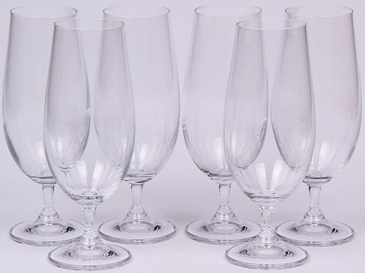 Набор бокалов для пива Banquet Crystal, 370 мл, 6 шт. 02B4G00637002B4G006370Набор Banquet Crystal состоит из шести бокалов для пива, выполненных из стекла. Изделия оснащены ножками. Бокалы сочетают в себе элегантный дизайн и функциональность. Благодаря такому набору пить напитки будет еще вкуснее.