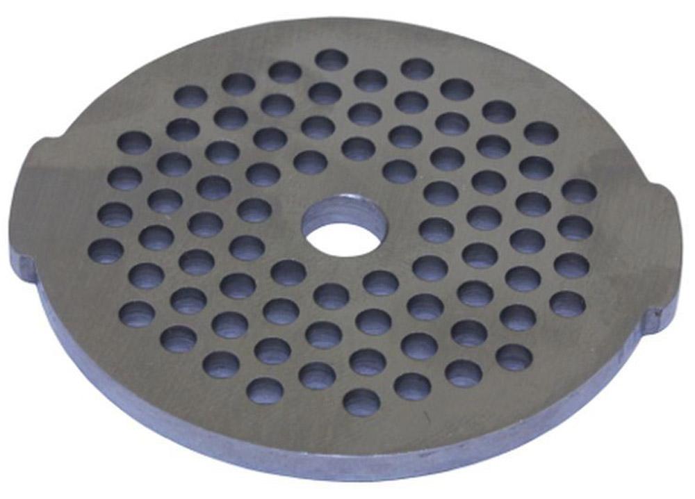 Euro Kitchen EUR-GR-3 Moulinex HV2 решетка для мясорубкиEUR-GR-3 Moulinex HV2Решетка Euro Kitchen EUR-GR-3 предназначена для работы с электрическими мясорубками марки Moulinex HV2. Она с легкостью заменит фирменную деталь, не уступив ей по качеству и сроку службы. Высокая производительность и долгий срок службы современных электрических и ручных мясорубок зависят, в первую очередь, от режущих механизмов и их выработки. Своевременная профилактика и замена режущих ивспомогательных элементов способствуют уменьшению нагрузки на узлы и другие механизмы, гарантируя долгую и качественную работу вашей мясорубки. Диаметр отверстий в решетке: 3 мм