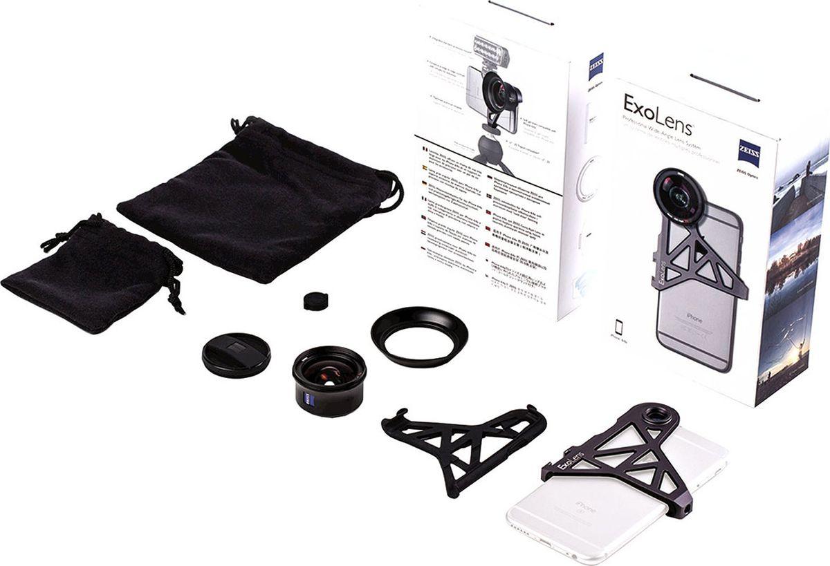 Optrix ExoLens, Black набор для фотосъемки для iPhone 6 Plus/6s Plus - Мобильная фотография