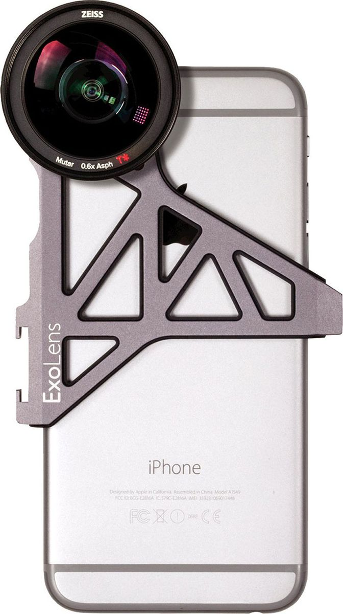 Optrix ExoLens, Black набор для фотосъемки для iPhone 6/6s optrix bg black red защитная сумка для смартфона