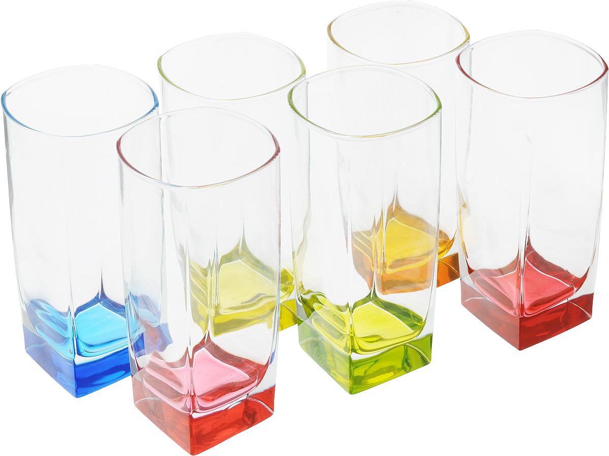 Набор стаканов Luminarc Bright Colors, 330 мл, 6 штJ8934Набор Luminarc Bright Colors состоит из 6 граненых стаканов, выполненных из упрочненного стекла с разноцветным дном. Стаканы устойчивы к повреждениям, истиранию, в процессе эксплуатации не впитывают запахи и долгое время сохраняют первоначальные краски. Такие стаканы прекрасно подойдут для воды, сока, лимонада и других напитков. Стильный яркий дизайн сделает набор украшением вашего стола. Можно мыть в посудомоечной машине. Диаметр стакана (по верхнему краю): 6,5 см. Высота стакана: 13.7 см.