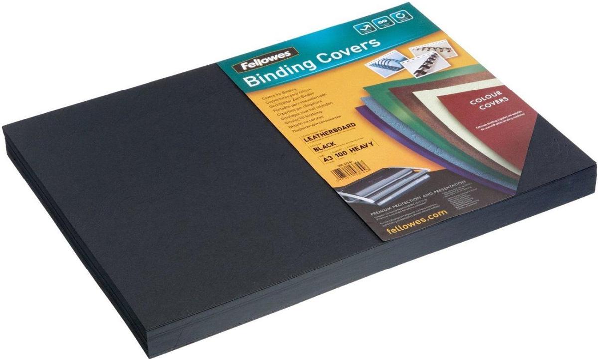 Fellowes Delta A3, Black обложка для переплета (100 шт)FS-53744Обложка Delta предназначена для оформления документов. Обложка выполнена из картона 250гр/м., тиснением под кожу, 100шт. в розничной упаковке. Идеально подходит как для переплета на пластиковую, так и на металлическую пружины.