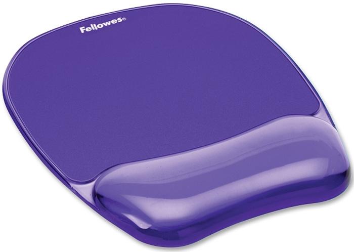 Fellowes FS-91441, Violet коврик для мышиFS-91441Стильный гелевый коврик Fellowes FS-91441 украсит ваше рабочее место.Мягкий гель обеспечивает комфортное положение запястья. Устойчивое к образованию пятен основание коврика.