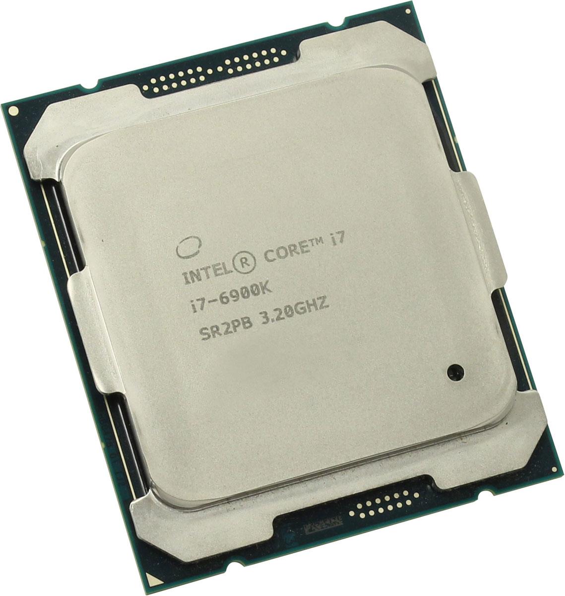 Intel Core i7-6900K процессор373951Процессор Intel Core i7-6900K обеспечит высокую производительность системы, когда это необходимо, благодаря автоматической подстройке частоты.Данная модель построена на архитектуре Broadwell и оснащена сокетом LGA 2011. Базовая частота этого 8-ядерного процессора составляет 3200 МГц, при серьезных нагрузках активируется турбо-режим и частота повышается до 3700 МГц.Intel Core i7-6900K поддерживает оперативную память типа DDR4 объемом до 128 ГБ с пропускной способностью 76.8 Гбайт/с. Используется системная шина DMI 2.0 и встроенный контроллер PCI-E 3.0 с 40 линиями. Процессор поддерживает 64-битный набор команд EM64T. Используется энергосберегающая технология Enhanced SpeedStep. Показатель тепловыделения (TDP) составляет 140 Вт.Ядро: Broadwell-E