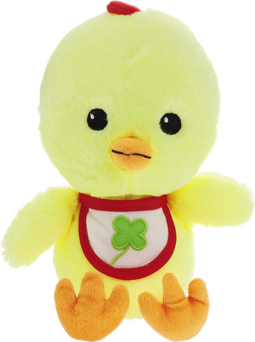 Gulliver Мягкая игрушка Цыпленок Цыпа в нагруднике цвет желтый 20 см gulliver мягкая игрушка цыпленок солнышко в штанишках цвет желтый черный серый 12 см