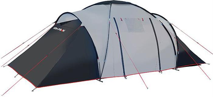 Палатка High Peak Como 4, цвет: светло-серый, темно-серый, 470 х 230 х 190 см10231High Peak Como 4 - это большая кемпинговая палатка для отдыха большой компанией или семьей. Конструкция с внешними дугами позволяет создать обширный купол для столовой и кухни. Подвесив две спальни, можно разместить по два человека в каждой комнате. Особенно это удобно, когда в поход выезжают две пары, или для создания отдельной детской спальни. Высота купола в середине палатки около 190 см позволяет взрослому стоять в полный рост. Из тамбура палатки ведут 2 выхода на две стороны. На пологе, закрывающем вход, находится прозрачное окно. Материал тента имеет полиуретановое покрытие и водонепроницаемость не менее 3000 мм водяного столба. Это позволяет защититься от ветра и дождя. Все швы проклеены термоусадочной лентой, гарантирующей, что влага не проникнет сквозь них. Дно палатки сделано из прочного водонепроницаемого армированного полиэтилена. Палатка достаточно устойчива, так как имеет множество ветровых оттяжек. Край тента обшит яркой стропой, которая усиливает палатку по краю и отмечает периметр палатки в ночное время. Дуги: фибергласс 9.5/тамбурная дуга 8,5 мм.Тент: полиэстер 3000 мм.Дно: армированный полиэтилен 3000 мм.