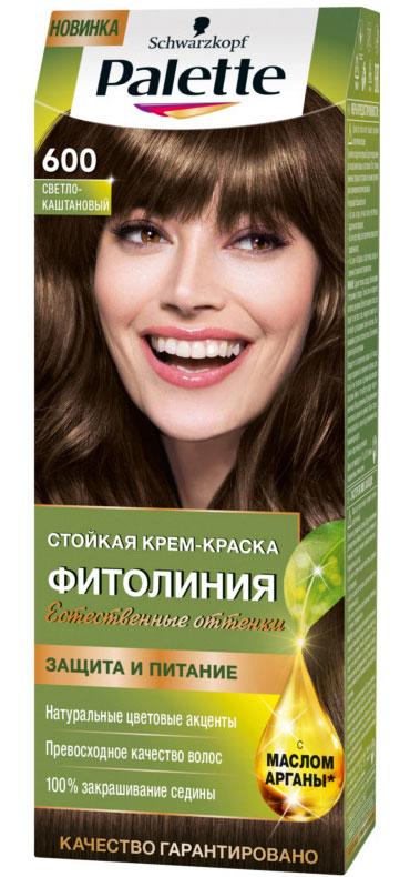 PALETTE Краска для волос ФИТОЛИНИЯ оттенок 600 Светло-каштановый, 110 мл9352560