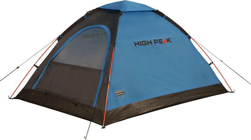 Палатка High Peak Monodome PU, цвет: синий, серый, 205 х 150 х 105 см. 1015910159Легкая компактная палатка купольного типа High Peak Monodome PU отлично подойдет для легкоходов и рыбаков. Палатка проста в установке, дуги продеваются в рукава на внешнем тенте, что позволяет устанавливать палатку и в дождь. Материал тента имеет полиуретановое покрытие и водонепроницаемость не менее 1000 мм водяного столба. Швы проклеены. Это позволяет защититься от ветра и дождя. Вентиляционное окно расположено в верхней точке купола палатки и защищено тканевым грибом. Палатка имеет четыре оттяжки, что надежно ее фиксирует во время ветреной погоды. Вход в палатку защищает тканевый полог, а если погода жаркая, то можно оставить только москитную сетку на входе.Дуги: фибергласс 7,9 мм.Тент: Полиэстер 190Т 1000 мм, швы проклеены.Дно: армированный полиэтилен (3000 мм).