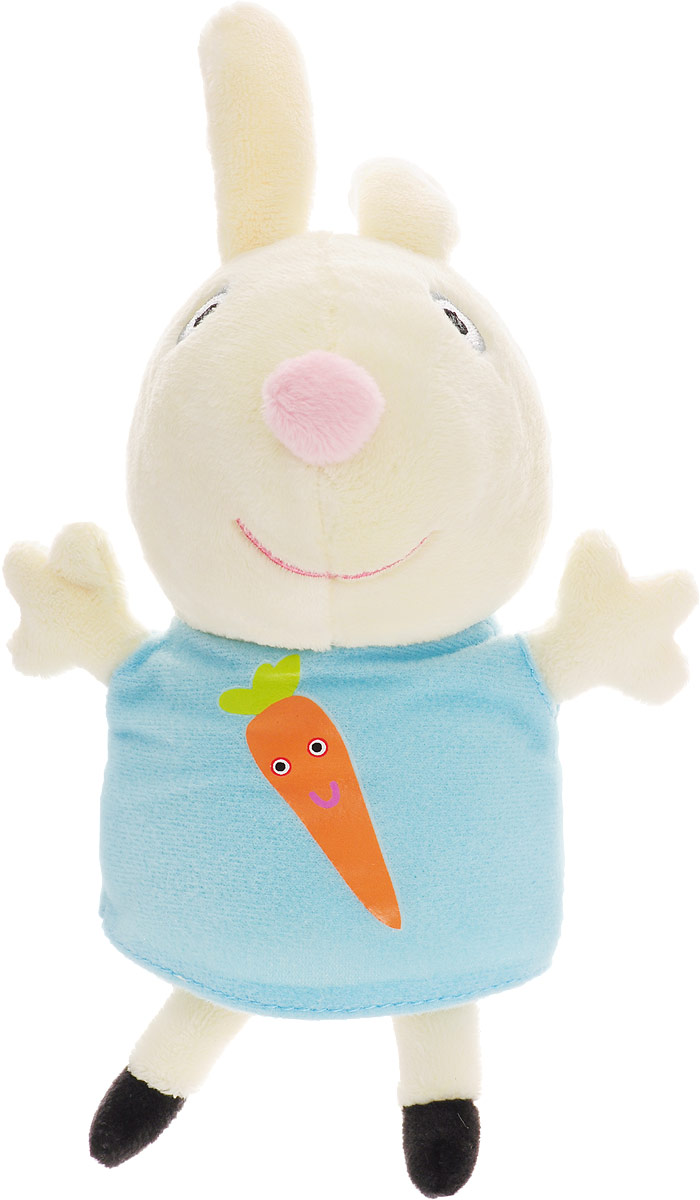 Peppa Pig Мягкая игрушка Ребекка с морковкой 20 см