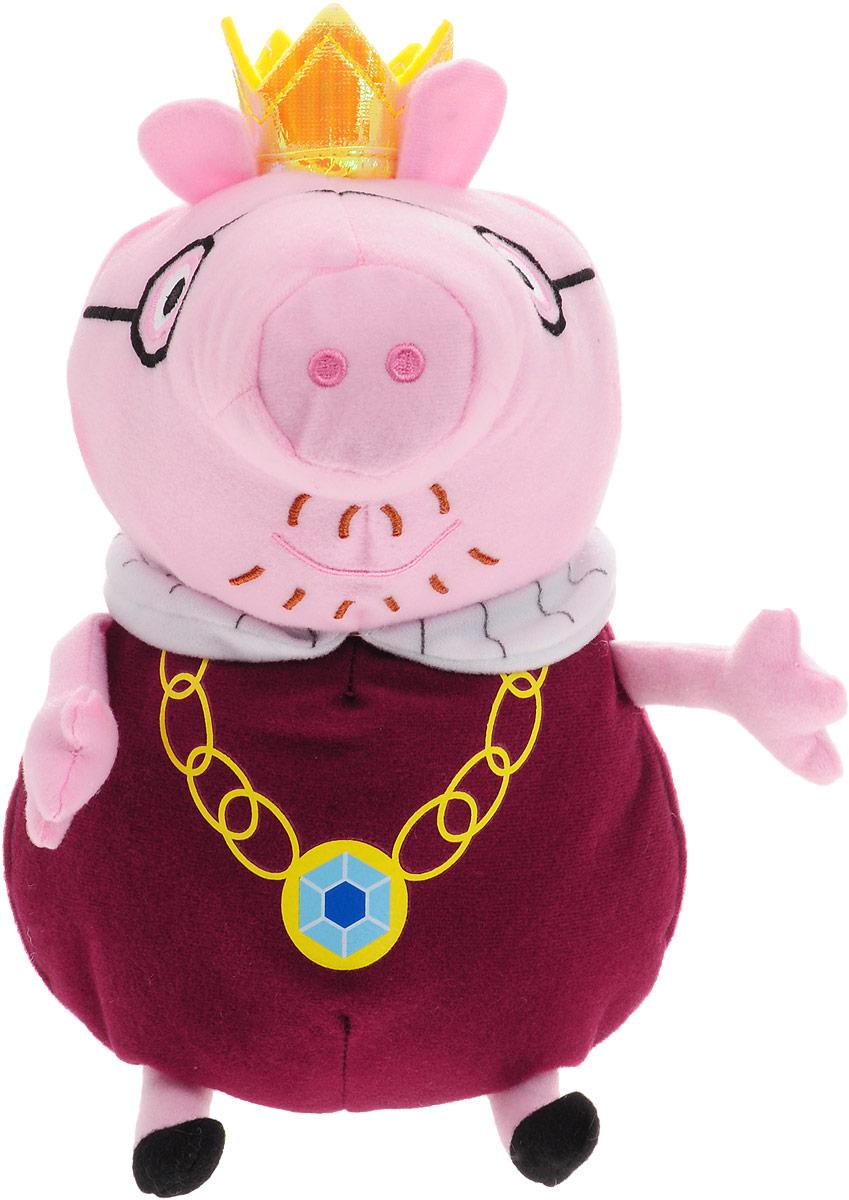 Peppa Pig Мягкая игрушка Папа Свин-король 30 см мягкая игрушка peppa pig джордж с машинкой свинка розовый текстиль 18 см 29620