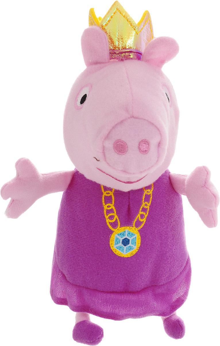 Peppa Pig Мягкая игрушка Пеппа-принцесса 20 см мягкая игрушка peppa pig джордж с машинкой свинка розовый текстиль 18 см 29620