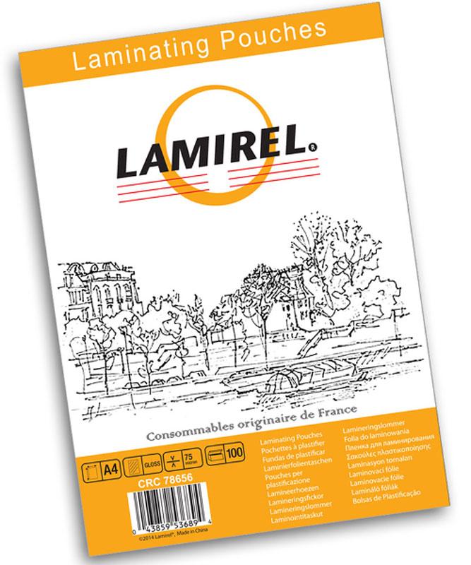 Lamirel А4 LA-78656 пленка для ламинирования, 75 мкм (100 шт)LA-78656Пакетная пленка Lamirel LA-78656 предназначена для защиты документов от нежелательных внешних воздействий.Обеспечивает улучшенную защиту от грязи, пыли, влаги. Документ дополнительно получает жесткость на изгиб изащиту от механического воздействия и потертостей. Идеально подходит для интенсивной эксплуатации.Глянцевое покрытие улучшает внешний вид документа: краски становятся глубже, ярче и контрастнее.