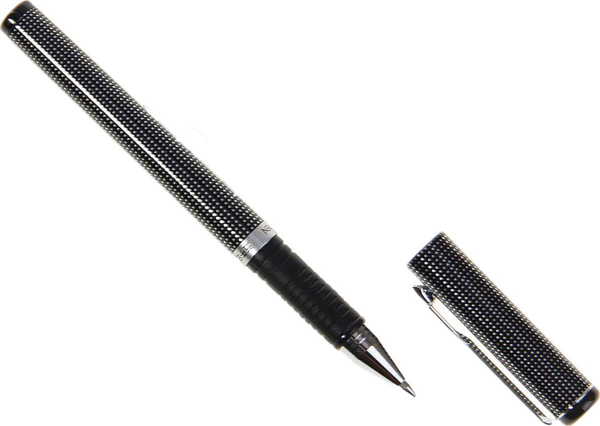 Wuqiannian Ручка гелевая W-377 черная164220Ручка гелевая W-377 в серебряном корпусе с резиновым держателем. Ручка — отличный выбор для любителей мягкого и удобного письма. Гелевая консистенция чернил равномерно распределяется по бумаге и быстро сохнет. Гладкое скольжение пишущего узла, удобный корпус и доказанная надежность делает такие ручки одними из самых популярных письменных принадлежностей среди детей и взрослых.