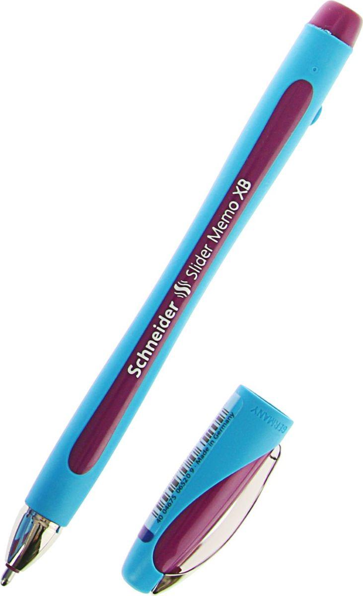 Schneider Ручка шариковая Memo XB фиолетовая1782198Шариковая ручка с широким наконечником Schneider Memo XB 1. 4 сочетает в себе прогрессивный дизайн и эргономичную форму. Благодаря прорезиненной поверхности она удобно располагается в руке и позволяет писать естественно, без напряжения, буквально скользя по бумаге (технология ViscoGlide). Наконечник выполнен из износостойкой нержавеющей стали.