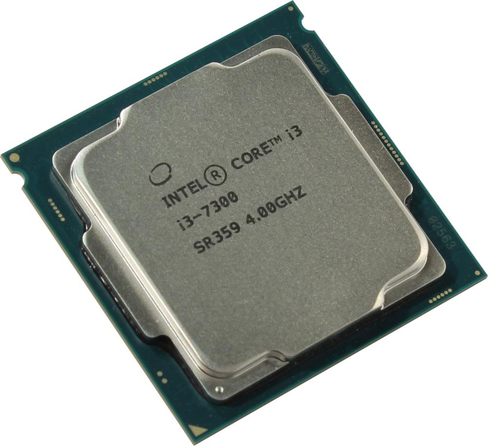 Intel Core i3-7300 процессор410651Core i3-7300 - процессор для настольных персональных компьютеров, основанных на платформе Intel.В основе лежит архитектура Kaby Lake, что позволяет оптимизировать работу двух ядер и четырех потоков, функционирующих на частоте 4 ГГц. Дополнительное быстродействие обеспечивается кэш-памятью третьего уровня объемом 4 МБ. Обработка изображения перед демонстрацией его на мониторе ПК осуществляется графическим процессором Intel HD Graphics 630.Для двусторонней передачи данных между Intel Core i3-7300 и оперативной памятью компьютера предусмотрен встроенный контроллер, поддерживающий модули размером до 64 ГБ. Также в данной модели установлены контроллер PCI-E 3.0 и системная шина DMI 3.0, которые используются для связи с другими элементами ПК.