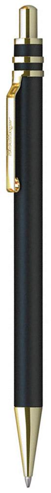 Berlingo Ручка шариковая Silver Premium цвет корпуса черный золотистыйCPs_72901Стильная и удобная шариковая ручка Berlingo Silver Premium с высококачественными чернилами обеспечивает ровное и мягкое письмо. Элегантная автоматическая шариковая ручка Berlingo Silver Premium изготовлена из меди и покрыта лаком. цвет корпуса ручки - черный, а элементы ручки - золотистые. Цвет чернил - синий. Диаметр пишущего узла - 0,7 мм.Ручка упакована в индивидуальный пластиковый футляр.