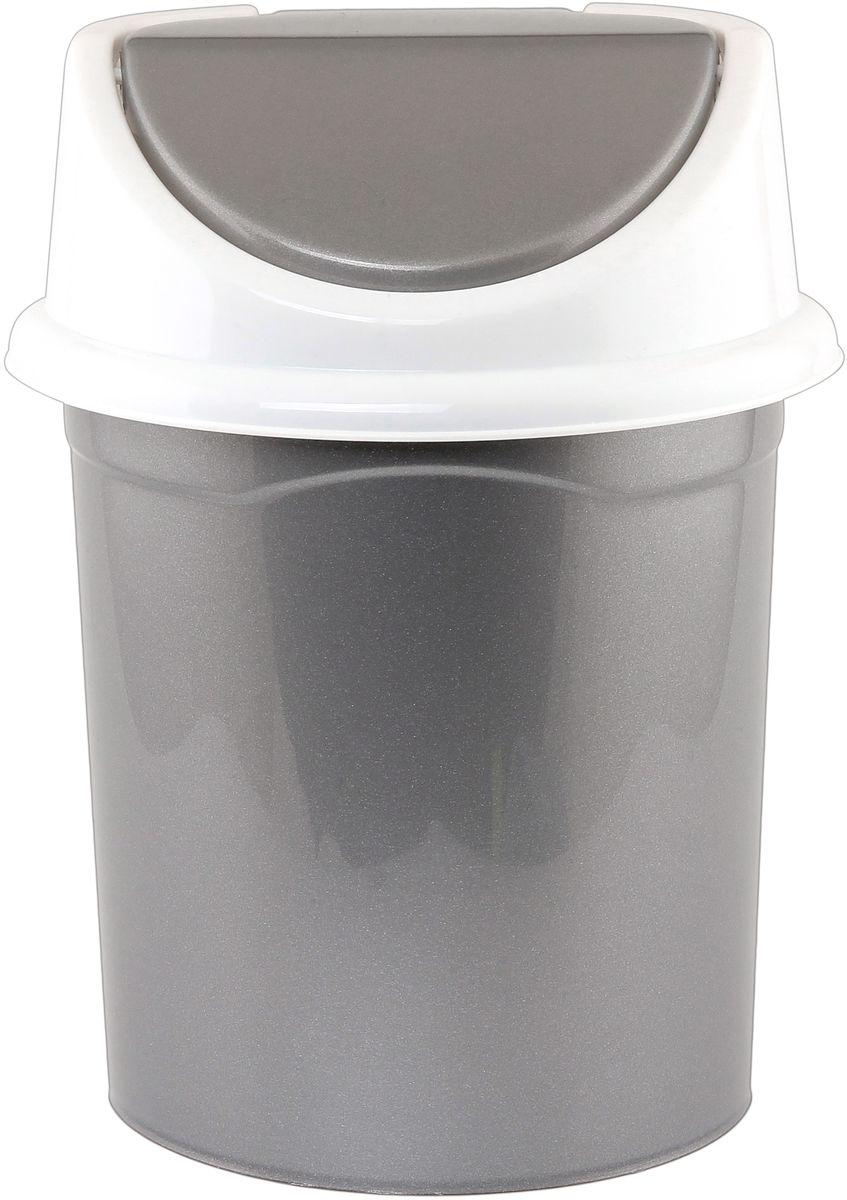 Ведро для мусора Violet, с крышкой, 14 л ведро для мусора коллекция мико высота 24 см
