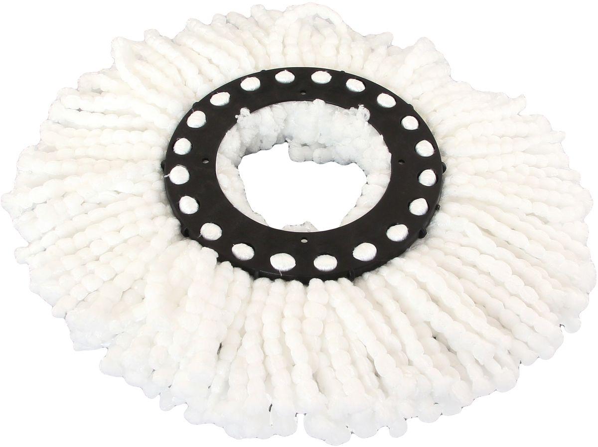 Насадка для швабры Violet, круглая, с микрофиброй811058Насадка из микрофибры эффективно удаляет загрязнения, притягивает песок, пыль, волосы, шерсть домашних животных. Она не оставляет пыль и ворсинки на поверхности, превосходно впитывает воду.