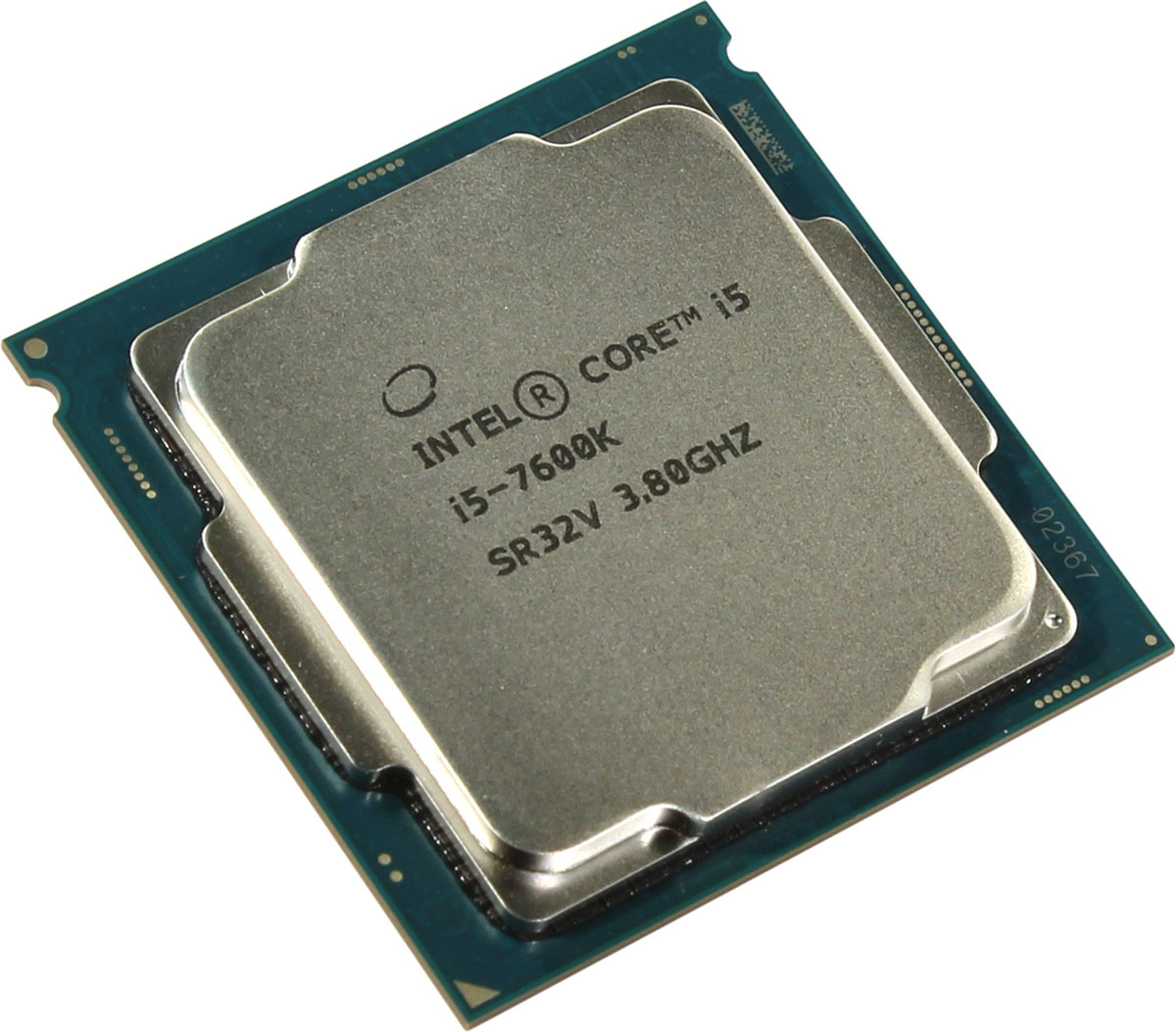 Intel Core i5-7600K процессор396380Core i5-7600K - процессор для настольных персональных компьютеров, основанных на платформе Intel. Обеспечит высокую производительность системы, когда это необходимо.В основе лежит архитектура Kaby Lake, что позволяет оптимизировать работу четырех ядер, функционирующих на частоте 3,8 ГГц (4,2 ГГц в режиме Turbo Boost). Дополнительное быстродействие обеспечивается кэш-памятью третьего уровня объемом 6 МБ. Обработка изображения перед демонстрацией его на мониторе ПК осуществляется графическим процессором Intel HD Graphics 630.Одна из ключевых особенностей Kaby Lake кроется в поддержке HEVC кодирования и декодирования 4К видео. Процессоры 7-го поколения Intel, теперь перепоручают данную работу непосредственно графической карте, и не задействуют, как это было раньше, свои собственные ядра, тем самым качество потока 4К видео улучшается.Пользователь заметит и значительные улучшения в работе с 3D графикой при использовании Kaby Lake, в сравнении с предыдущими поколениями, что напрямую говорит об улучшении игрового процесса.Для двусторонней передачи данных между Intel Core i5-7600K и оперативной памятью компьютера предусмотрен встроенный контроллер, поддерживающий модули DDR4/DDR3L размером до 64 ГБ. Также в данной модели установлены контроллер PCI-E 3.0 и системная шина DMI 3.0, которые используются для связи с другими элементами ПК.