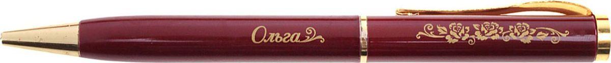 Ручка шариковая Ольга цвет корпуса бордовый608214Стильная и удобная именная ручка Ольга в бархатном мешочке. Выполненная в насыщенном бордовом цвете в сочетании с золотистый гравировкой, сделанная уникальным художественным шрифтом, она станет достойным дополнением образа своей обладательницы. Поворотный механизм надежен и удобен в повседневном использовании – ручка не откроется случайно и не оставит синих чернильных пятен на одежде. Мягкий бархатный мешочек придает изделию неповторимый шарм, делая его желанным подарком по поводу и без.