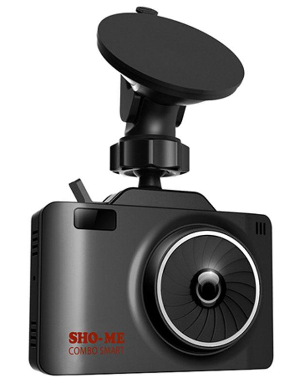 Sho-Me Combo Smart, Black видеорегистратор с радар-детекторомCOMBO SMARTВидеорегистратор с радар-детектором Sho-Me Combo Smart - уникальная комбинация самых важных для автомобилиста функций – запись происходящего на видео в высоком качестве (Full HD) и оповещение о сигналах полицейских радаров, принятых антенной и/или определяемых с помощью GPS.Определение радарных сигналов во всех актуальных диапазонах – Х, К, Ка и сигналов лазерных измерителей (включая ЛИСД и Амата), а также сигналов комплекса Стрелка (более 1 км), Робот, Места и прочихОпределение силы сигнала (1-5), в том числе сила сигнала СтрелкиРежимы Город/Трасса для уменьшения ложных срабатыванийСкоростные фильтры (отключение оповещения о принимаемых сигналах при движении ниже выбранной скорости)Автоматическое приглушение громкостиРегулировка яркости дисплеяВозможность отключения диапазонов пользователемСохранение настроекГолосовое оповещениеОбновление базы данных камер и радаров, а также программного обеспечения с помощью карты памятиПроцессор: Ambarella A7LA30Оперативная память: 256 МБ DDR3 Внутренняя память: 128 МБ (NAND SLC)