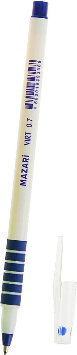 Mazari Ручка шариковая Virt цвет чернил синий1975763Ручка шариковая Mazari Virt - безупречная конструкция пишущего узла отработана до совершенства. Тонкий шарик гарантирует качественное изящное письмо - узел 0.7 мм. Чернила обеспечивают мягкое ровное письмо и уверенное скольжение по бумаге. Ручка состоит из легкого пластикового корпуса с металлическим наконечником и мягким антискользящим резиновым упором для пальцев.
