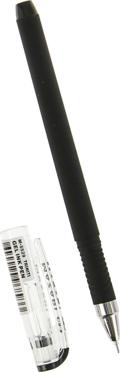 Mazari Ручка гелевая Triniti цвет чернил черный2093337Ручка гелевая Mazari Triniti - безупречная конструкция пишущего узла отработана до совершенства. Тонкий шарик гарантирует качественное изящное письмо - узел 0.5 мм. Чернила обеспечивают мягкое ровное письмо и уверенное скольжение по бумаге. Ручка состоит из легкого пластикового корпуса с металлическим наконечником и мягким антискользящим резиновым упором для пальцев.