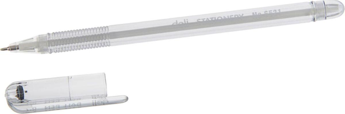 Deli Ручка шариковая черная 23084062308406Ручка шариковая Deli - неавтоматическая. Имеет прозрачный пластиковый корпус, позволяющий контролировать уровень расхода чернил. Рифленая поверхность передней части корпуса предотвращает скольжение пальцев при письме.