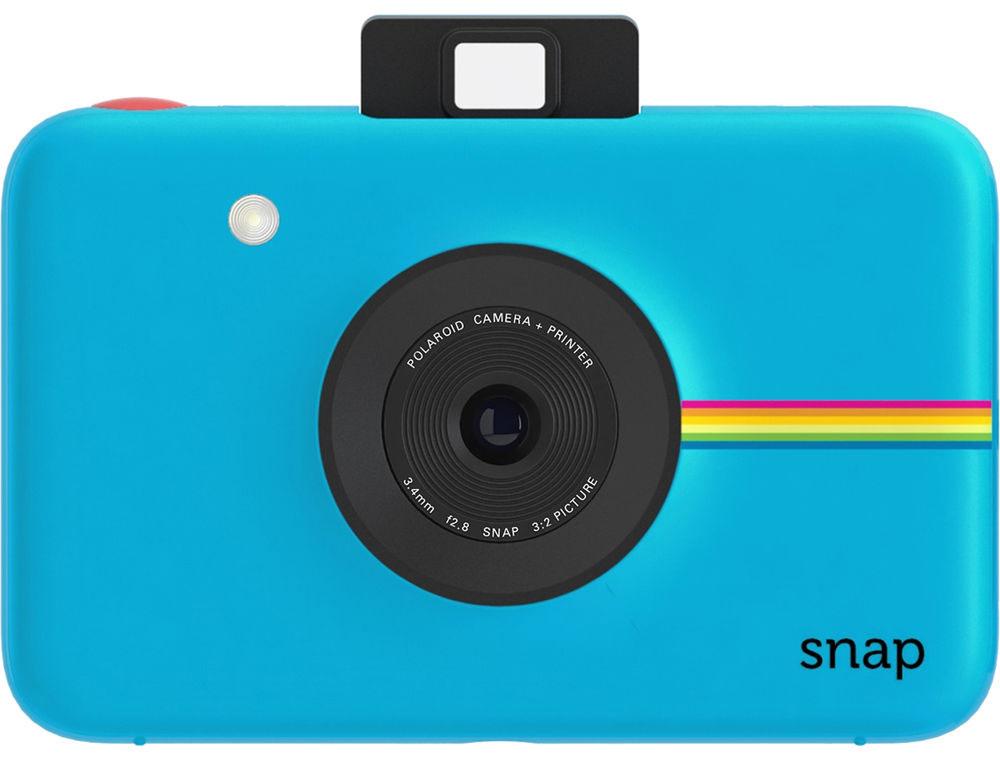 Polaroid Snap, Blue фотокамера мгновенной печатиPOLSP01BLEPolaroid Snap - компактная камера, способная сразу распечатать полученный снимок.В устройстве используется технология ZINK, позволяющая получать отпечатки без использования чернил. Данная разработка уже успела зарекомендовать себя в других камерах Polaroid. Снимки разрешением 10 Мп мгновенно преобразуются в отпечатки размером 2х3 дюйма.Хранить фотографии можно на карте памяти microSD объёмом до 32 ГБ. Дополняют картину несколько сценариев съёмки, возможность выставить таймер, а также режим, в котором камера делает шесть снимков за 10 секунд.Формат отпечатков: 50 мм х 75 мм