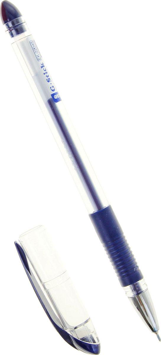 Erich Krause Ручка гелевая G-Stick EK синяя1013827Удобная гелевая ручка с прозрачным корпусом и резиновым грипом. Пишущий узел 0. 5 мм обеспечивает чистое и четкое письмо. Наконечникметаллизированный. Сменный стержень. Рекомендуется использовать стержень Erich Krause G-BASE.