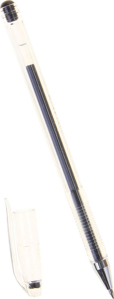 Crown Ручка гелевая HJR-500 черная гастроном дели s26 офис гелевая ручка ручка углерода ручка ручка черная 0 7mm 12 палочки