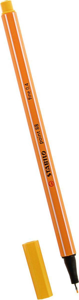 STABILO Ручка капиллярная Point 88 цвет чернил желтый1454550Капиллярная ручка STABILO Point 88 идеально подходит для легкого и мягкого письма, черчения, рисования и раскрашивания.Металлический фиксатор наконечника дает возможность работать с линейками и трафаретами. Высокое качество и большой запас чернил существенно увеличивают срок службы ручки. Чернила на водной основе.Цвет колпачка соответствует цвету пасты. Толщина линии - 0,4 мм.