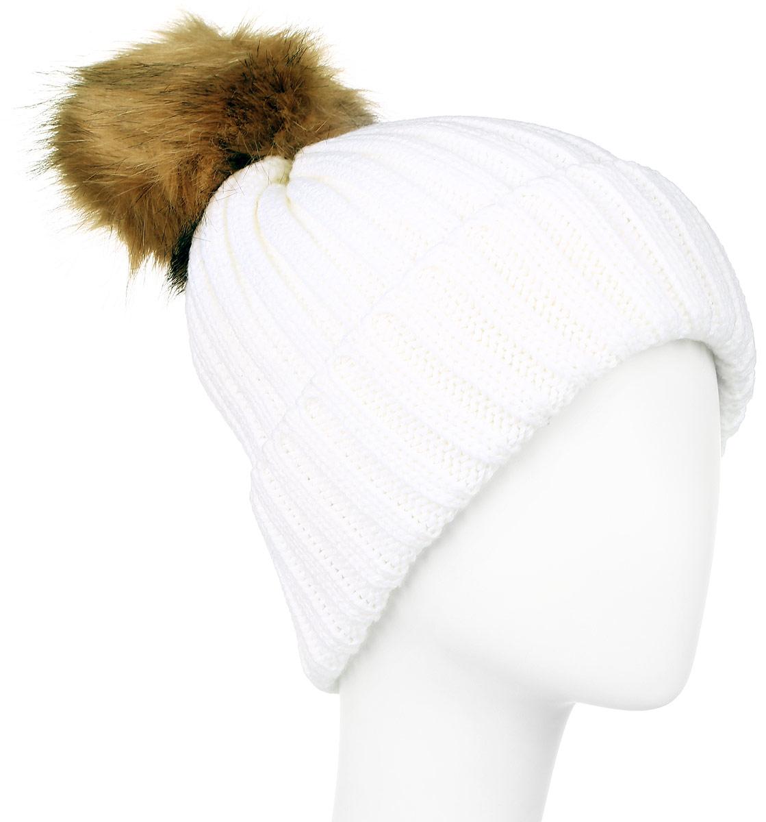 Шапка женская R.Mountain, цвет: молочный. ICE 8518. Размер 54/61 шапка canada goose 5292l 61