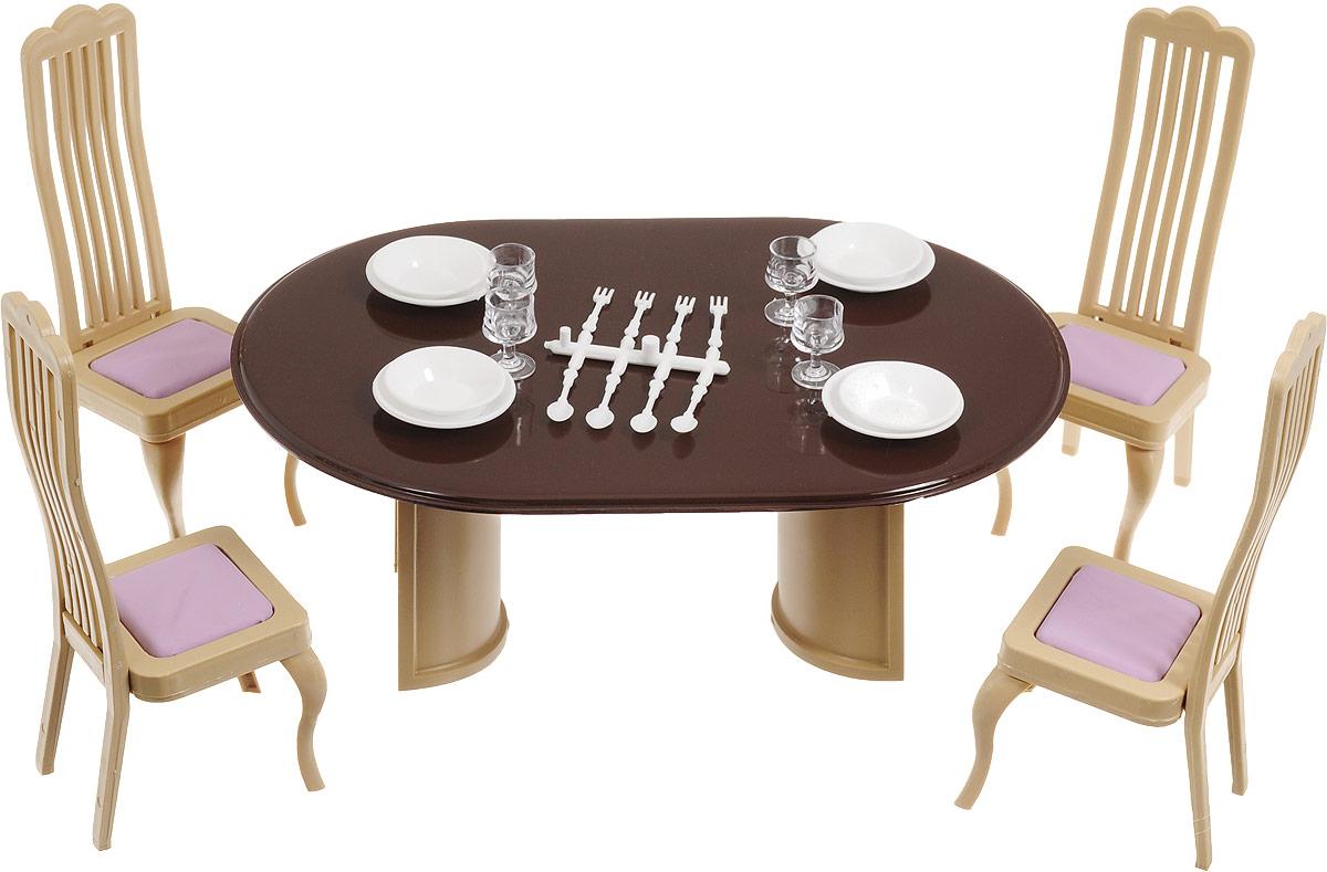 Огонек Набор мебели для кукол Коллекция для столовой набор мебели для прихожей пикассо 4