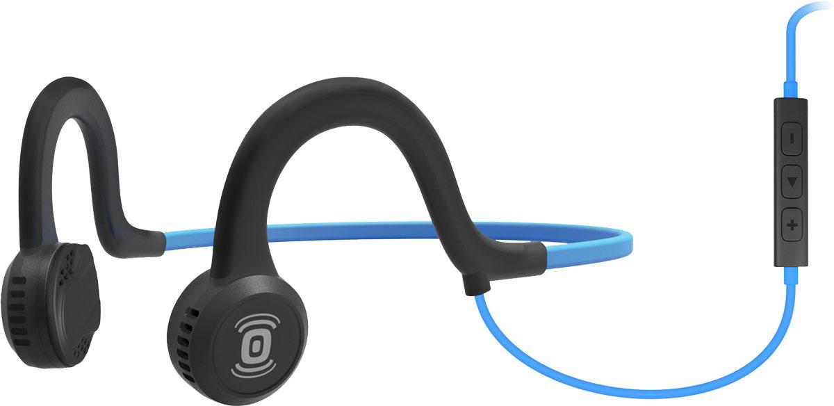 Aftershokz Sportz Titanium, Blue наушникиAS451OBAfterShokz Sportz Titanium - это спортивная гарнитура с уникальной технологией проводимости звука непосредственно в кость. Гарнитура позволяет прослушивать музыку до 12 часов на одном заряде батареи, а время зарядки составляет всего два часа. Использованная в AfterShokz Sportz Titanium технология PremiumPitch (костная проводимость звука) позволяет слушать музыку и происходящее вокруг одновременно. Данная особенность позволяет сосредоточится на тренировке, но при этом быть всегда на чеку. Максимальное звуковое давление у данной модели составляет 101 дБ, что обеспечит достаточно высокую громкость наушников. AfterShokz Sportz Titanium изготовлены из качественных и прочных материалов, основным из которых является титан. Гарнитура крепится на затылке и имеет гибкое крепление, благодаря чему она не вызывает дискомфорта при интенсивных тренировках. При входящем звонке музыка отключается и автоматически активируется микрофон.