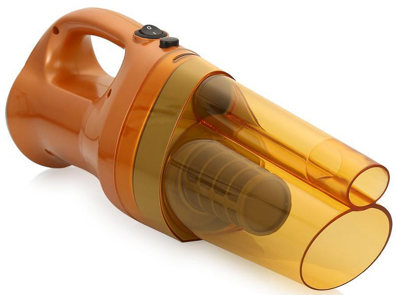 Автомобильный пылесос Агрессор AGR-150, 5 насадок, 12В, 150ВтAGR-150 SmerchВ емкости для мусора центробежные силы закрученного воздуха отбрасывают частицы от фильтра, который расположен в центре мусоросборника. Благодаря чему фильтр всегда остается чистым, а значит, в процессе работы мощность всасывания не уменьшается.Корпус пылесоса изготовлен из легкого и прочного пластика и отличается удобным и лаконичным дизайном. Питание устройства осуществляется от прикуривателя автомобиля. В комплекте с изделием идут 2 удлинителя и 3 насадки, позволяющие очистить даже самые труднодоступные места салона от грязи и пыли.Автомобильный пылесос AGR-150 – одна из самых мощных моделей серии «Агрессор». В его конструкции используется инновационная технология фильтрации «Смерч», чей принцип работы основан на законах аэродинамики. Специальная форма фильтра закручивает поток всасываемого воздуха в воронку. За счет этого достигается максимальная эффективность очистки поверхности от грязи и пыли.