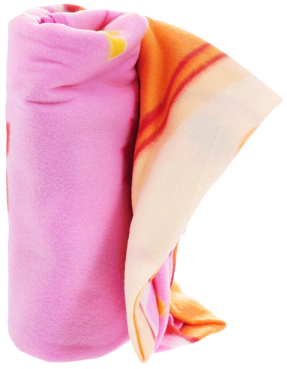Фиксики Покрывало детское Симка цвет розовый оранжевый 130 х 160 см -  Детский текстиль