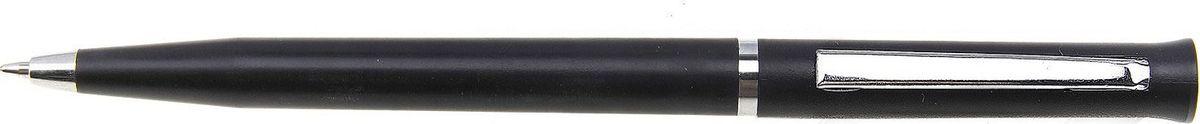 Calligrata Ручка шариковая Лого цвет корпуса черный серебристый синяя