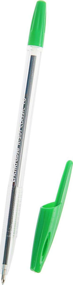 Erich Krause Ручка шариковая R-301 Orange EK зеленая789563Удобная шариковая ручка эконом класса с прозрачным корпусом для контроля уровня чернил. Цвет вентилируемого колпачка и клипа соответствует цвету чернил. Пишущий узел 1. 0 мм обеспечивает четкое письмо. Сменный стержень. Рекомендуется использовать стержень Erich Krause.